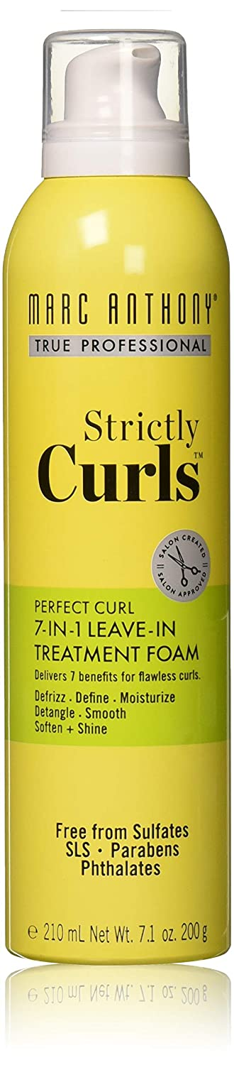 Marc Anthony True Professional Strictly Curls Perfect Curl 7-in-1 Treatment Foam, 7.05 Ounce : Beauty