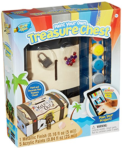 MasterPieces Puzzle Company Works of Ahhh... Treasure Chest Wood Paint Kit