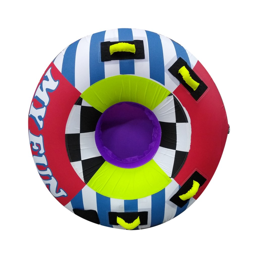 MIPSPORT, My Fun Inflatable Towable Tube,Heavy-Duty PVC Bladder and Full Nylon Cover with Deluxe Nylon-Wrapped Handles