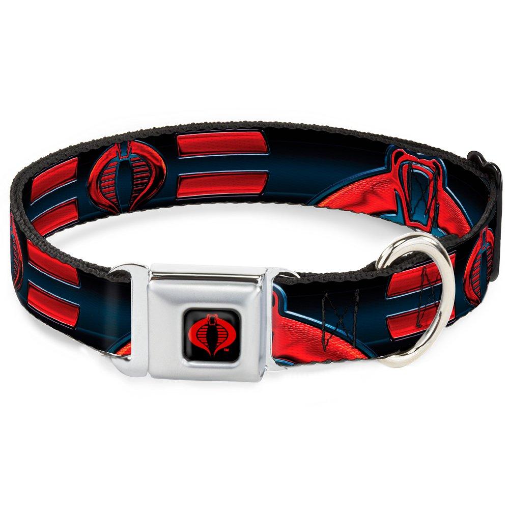 Buckle-Down DC-WGIJ004-L 15-26  GIJA-GI Joe Cobra Logo Full color Black Red  Dog Collar, Large