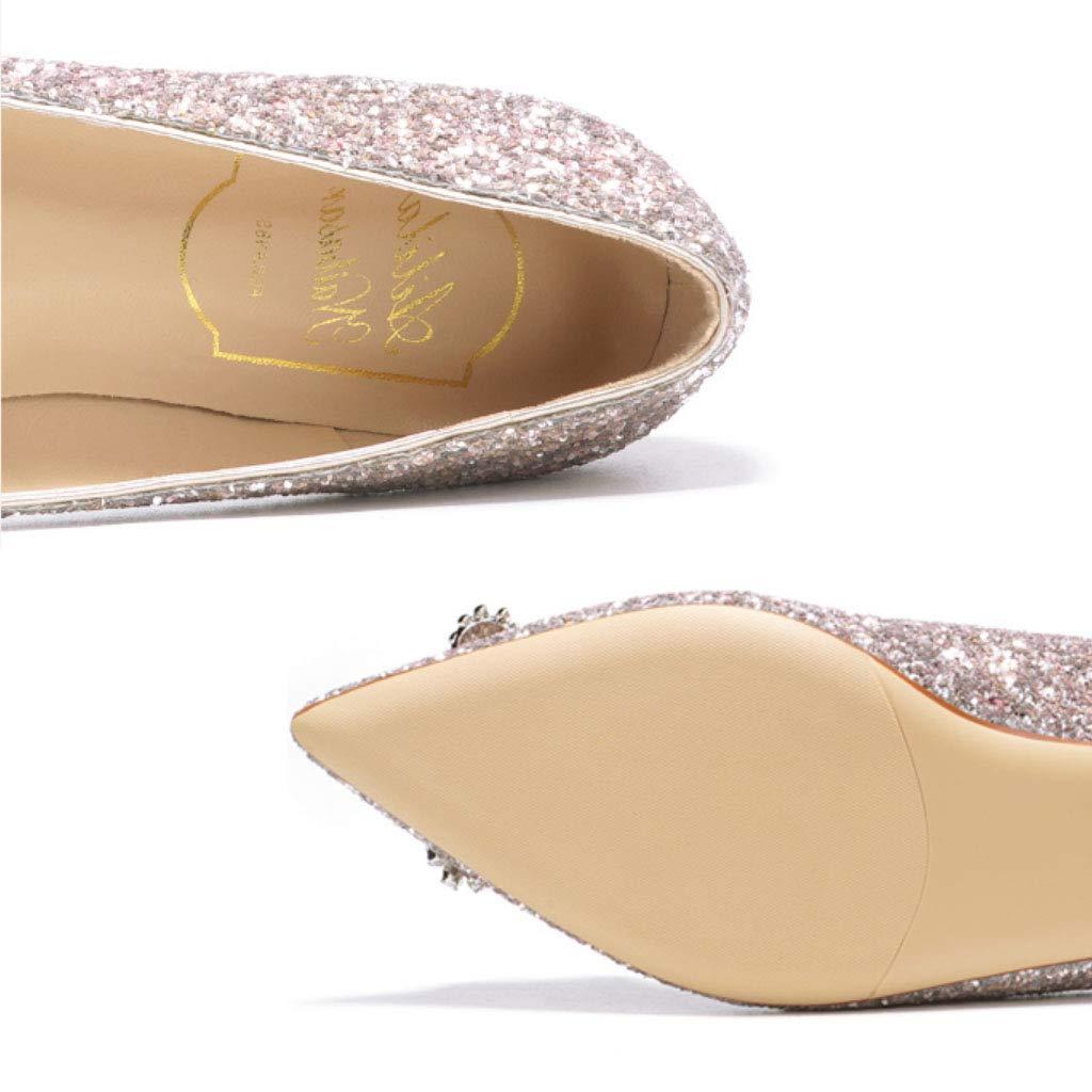RegbKing Scarpe Da Sposa Fibbia Fibbia Fibbia Quadrata Scarpe Piatte Di Cristallo Glitter Da Sposa Damigella D'Onore Sparkly Dress scarpe Ballerine | Up-to-date Stile  870204
