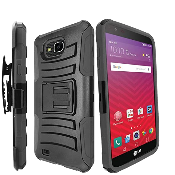 Cell Phones & Accessories For Lg X Venture H700 X Calibur V9 Rugged Case W/stand Dual Layered Cover