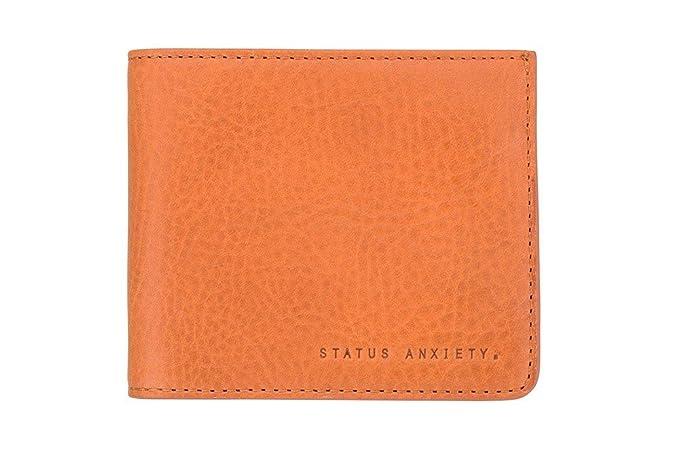 Status Anxiety sa2172 Amos naranja cartera de piel (marrón)