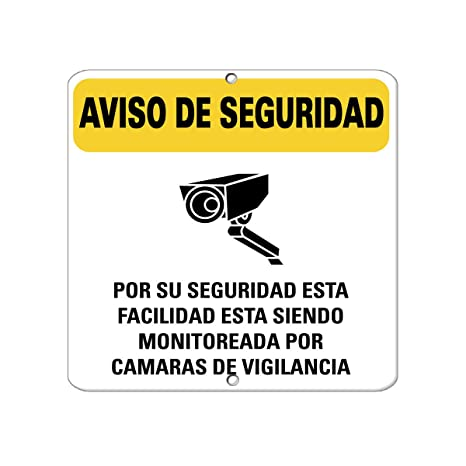 Warning Safety Monitored By Surveillance Cameras Security Aluminum METAL SIGN 12 in x 12 in
