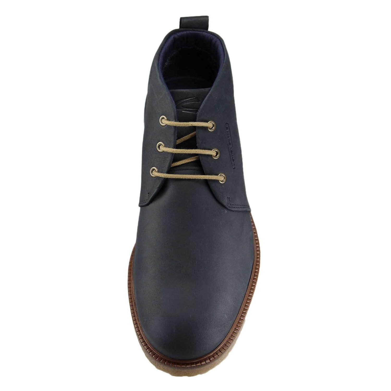 3f1b6abf camel active 505.11.05 Palm - Zapatos de Cordones de Piel para Hombre Negro  Midnight, Color Azul, Talla 44: Amazon.es: Zapatos y complementos