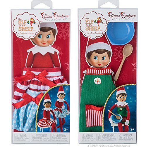 The Elf on the Shelf Claus Couture Collection Twirling in the Snow Skirts and Sweet Shop Set ()