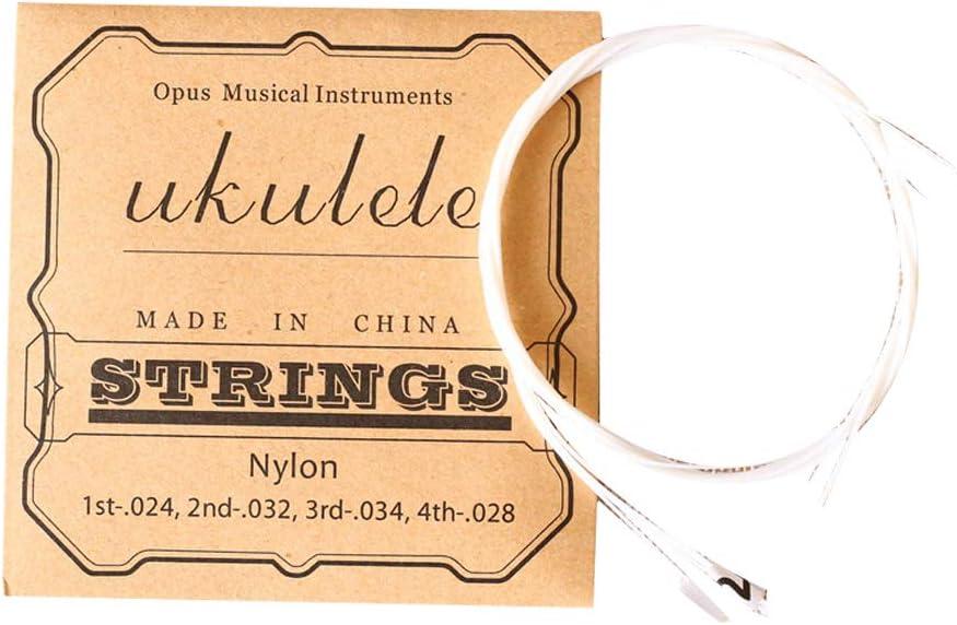 Cuerdas para ukelelele, cuerdas para guitarra acústica, ukelelele, repuesto para ukelelele, cuerdas de nailon, 1 juego