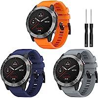 TOPsic armband voor Fenix 5 accessoires armband, silicone horlogeband 22 mm reserveband armband voor Garmin Fenix 5/5…