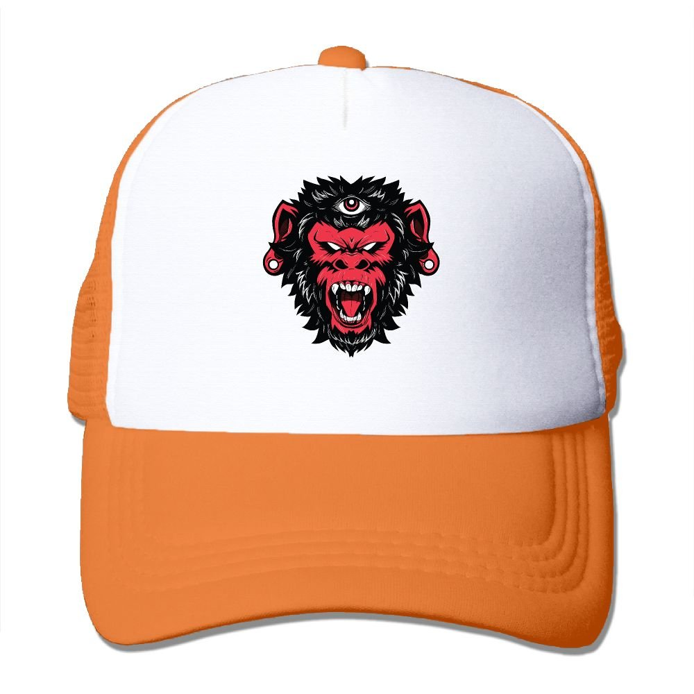 Teesofun Mesh Baseball Caps Demon Monkey Vector Illustration Unisex Adjustable Sports Trucker Cap