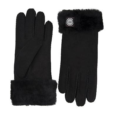 ce7a1a5324d189 UGG® Sheepskin Turn Cuff Damen Handschuhe Schwarz: Amazon.de: Bekleidung