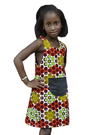 Chengyang Kids Girl Africa Tribe Print Dress Straight Traditional