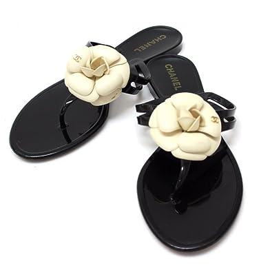 3be80e2c3560 Amazon | (シャネル)CHANEL カメリア ビーチサンダル 靴 サンダル ラバー ...