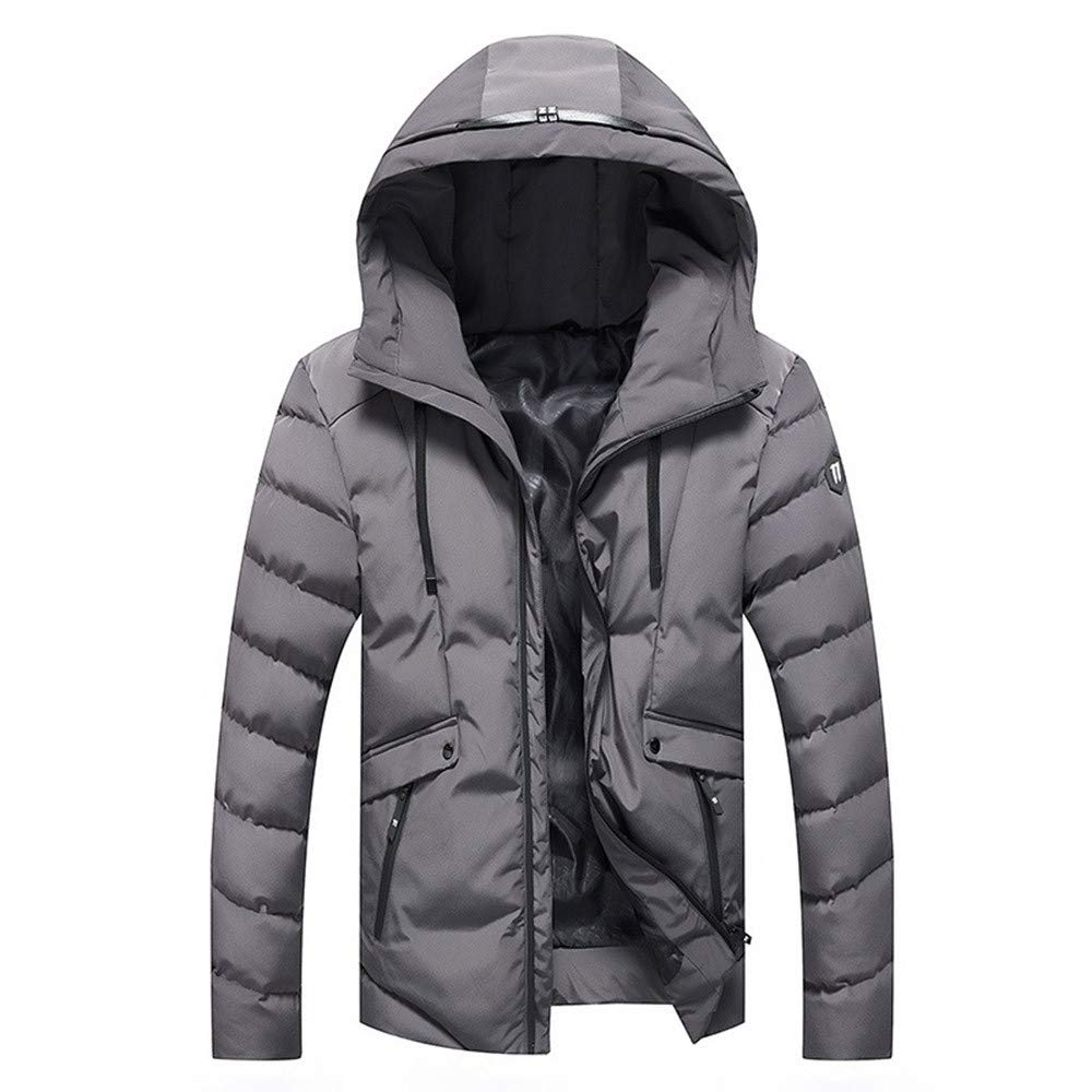 Amazon.com : Clearance!Men Winter Warm CoatMens Winter Pure Color Zipper Stand Collar Baseball Coat Cotton Outwear Tops : Sports & Outdoors