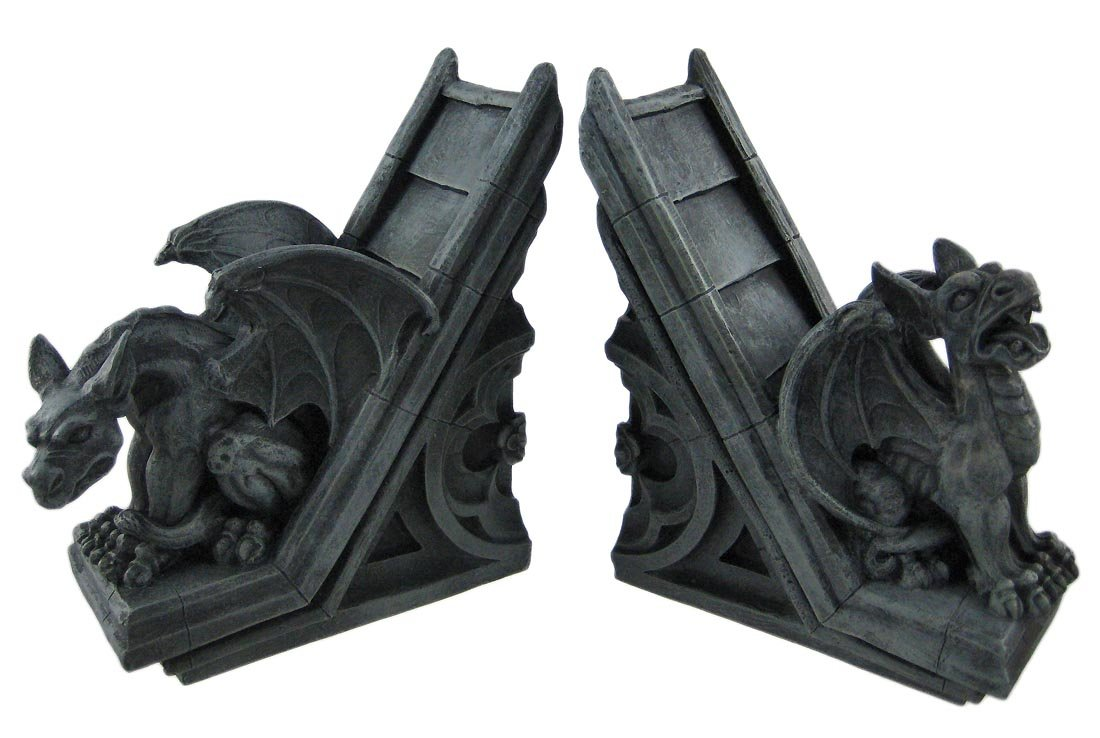 Gothic Gargoyle Sculptural Bookends Book Ends Pacific Trading Company 00-E2GBRM-87