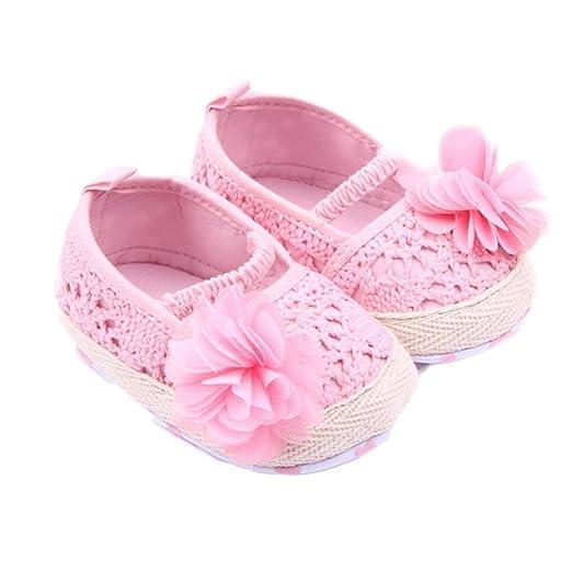 517ca57066c3f Amazon.com: GBSELL Baby Girl Flower Shoes Sneaker Anti-slip Hand ...
