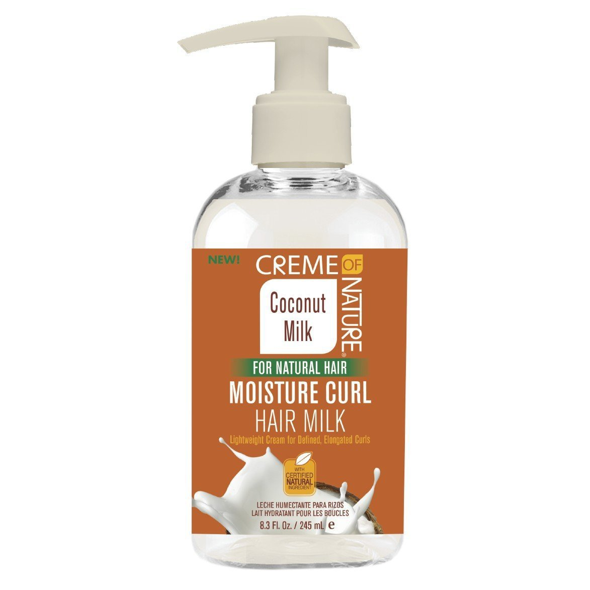 Creme Of Nature Coconut Milk Moisture Curl Hair Milk 8.3 Ounce (245ml)