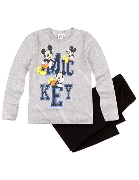 Mickey Mouse - Pijama Dos Piezas - para niño Gris/Negro 3 Años