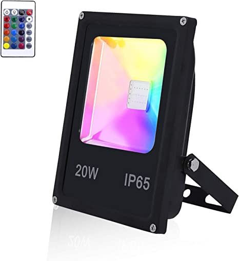 VINGO RGB LED Strahler Farbwechsel mit Fernbedienung RGB