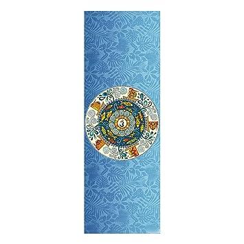 Yoga Colchonetas Fitness y Ejercicio Estera de Yoga Estera Toalla de Goma portátil Plegable Ejercicio Fitness Yoga Tape Machine Lavable (Size : 178 * 61 ...