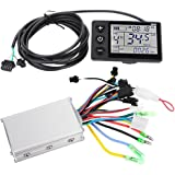 Electric Motor Controller, 24V-48V Waterproof LCD Display Panel Brushless Controller Kit for Electric Bicycle Scooter