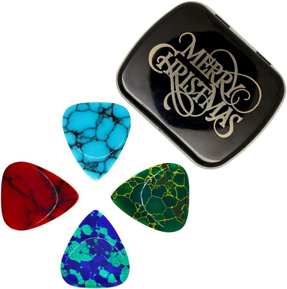 Juego de 4 púas de guitarra de tonos de piedra: Amazon.es ...