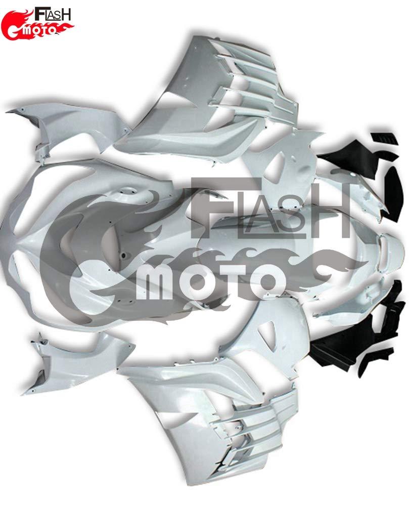 FlashMoto kawasaki 川崎 カワサキ ZX14R ZZ R1400 Ninja 2012 2013 2014 2015用フェアリング 未塗装 オートバイ用射出成型ABS樹脂ボディワークのフェアリングキットセット 無塗装   B07L896ZNH
