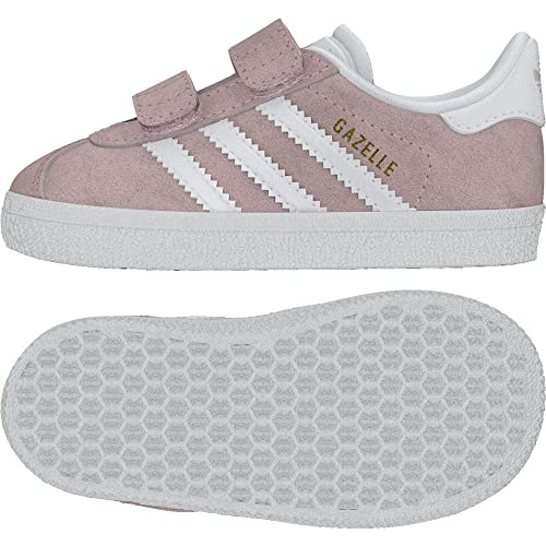 pretty nice b2d63 6afba Amazon.com  adidas Originals Gazelle CF I Icey Pink Suede Infant Trainers   Shoes