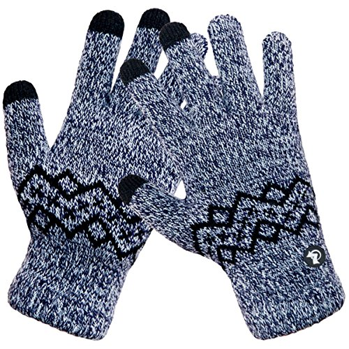 LETHMIK-Wool-Lined-Knit-Gloves-Warm-Winter-Mens-3-Touchscreen-Fingers-for-SmartPhones