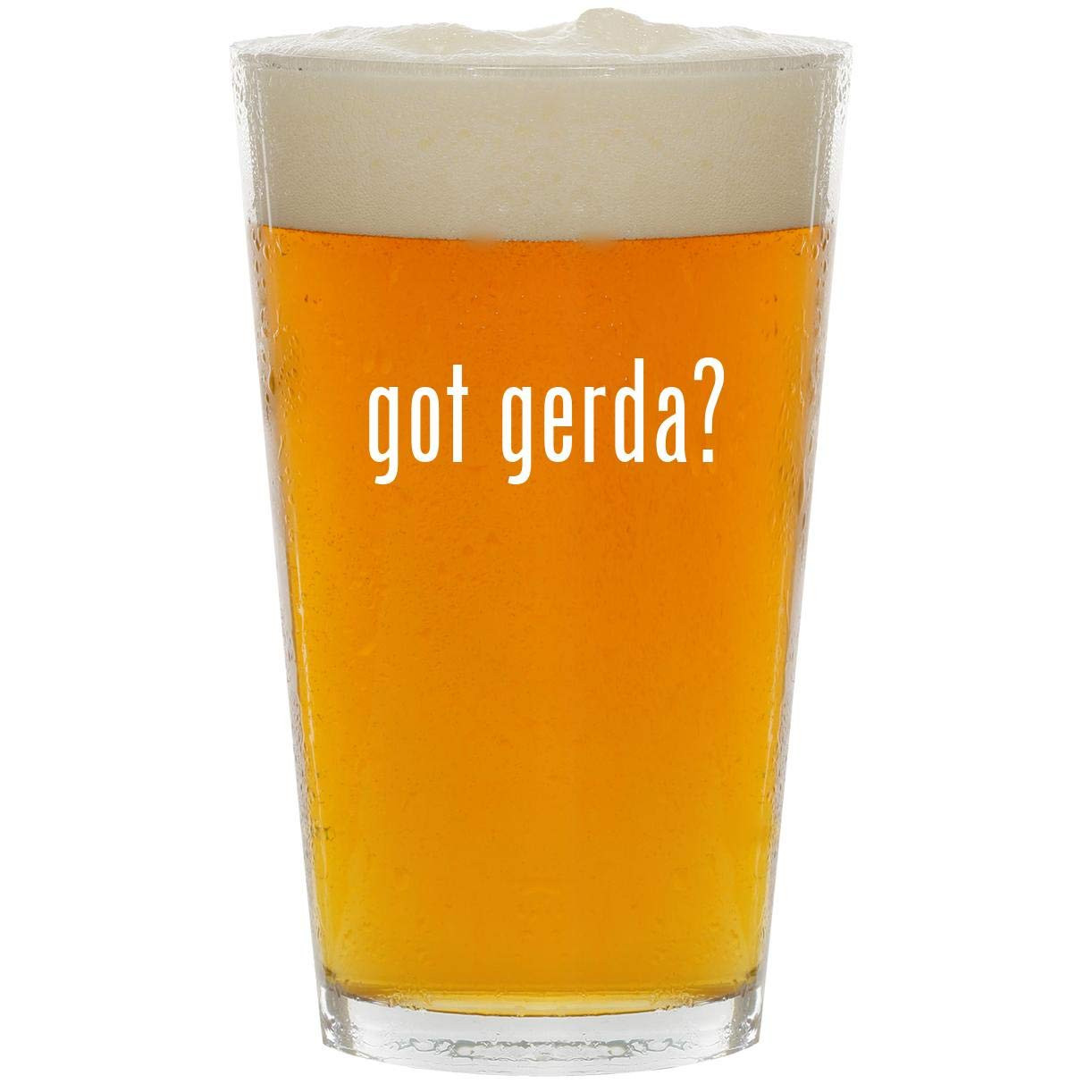 got gerda? - Glass 16oz Beer Pint by Molandra Products