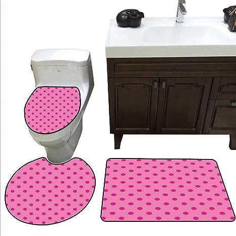 Surprising Amazon Com Hot Pink Bath Mat And Toilet Mat Set Classical Download Free Architecture Designs Lukepmadebymaigaardcom