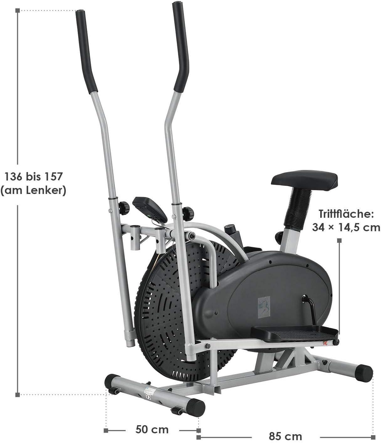 ArtSport 2in1 Crosstrainer & Heimtrainer - Produktabmessung
