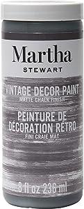 Martha Stewart Crafts 33527 Martha Stewart Vintage Decor Matte Chalk Charcoal, 8 oz Paint, 8 Fl Oz