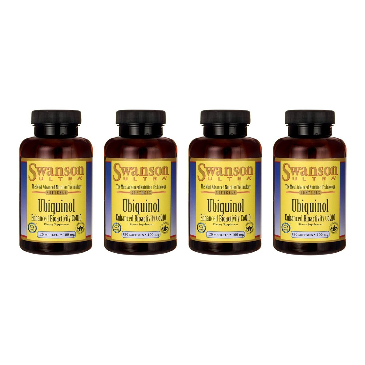 Swanson Ubiquinol 100 mg 120 Sgels 4 Pack