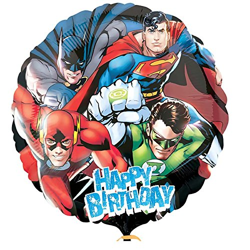 Superman Foil - Justice League Balloon with Superman Batman and Friends birthday party supplies