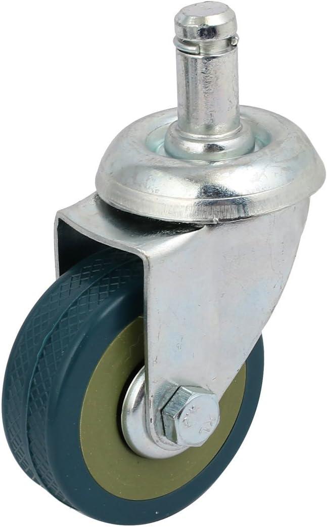 sourcing map Ruedas el anillo basculante giratorio de 360 grados del tallo gris orientable de 2-pulgadas PU solo el agarre