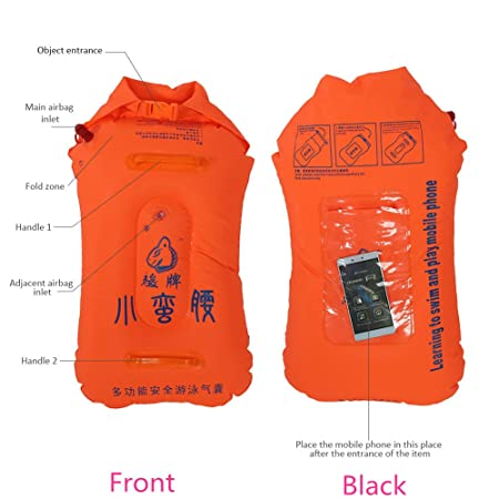 Amazon.com : Buoy Float Swim Safety Float Adult Manual Inflatable Air Bag for Snorkeling Surfing Boating Swimming : Sports & Outdoors