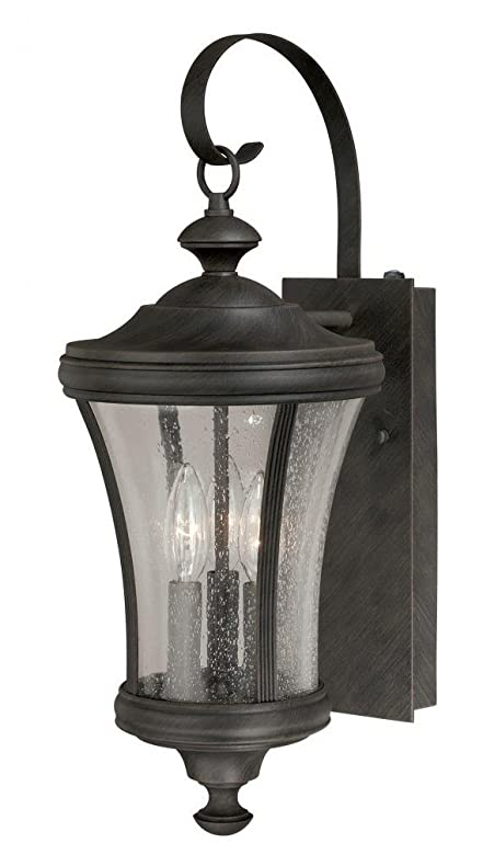 Vaxcel T0147 Hanover Wall Light 9 Brushed Iron Finish