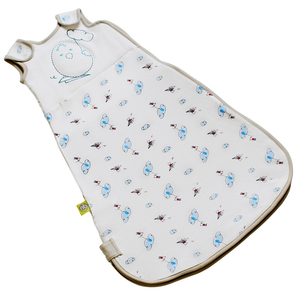 Baby Sleeping Bag Adjustable Cotton Wearable Blanket Nested Bean Zen Sack Classic 3-6 months, Flying Adventures of Mouse