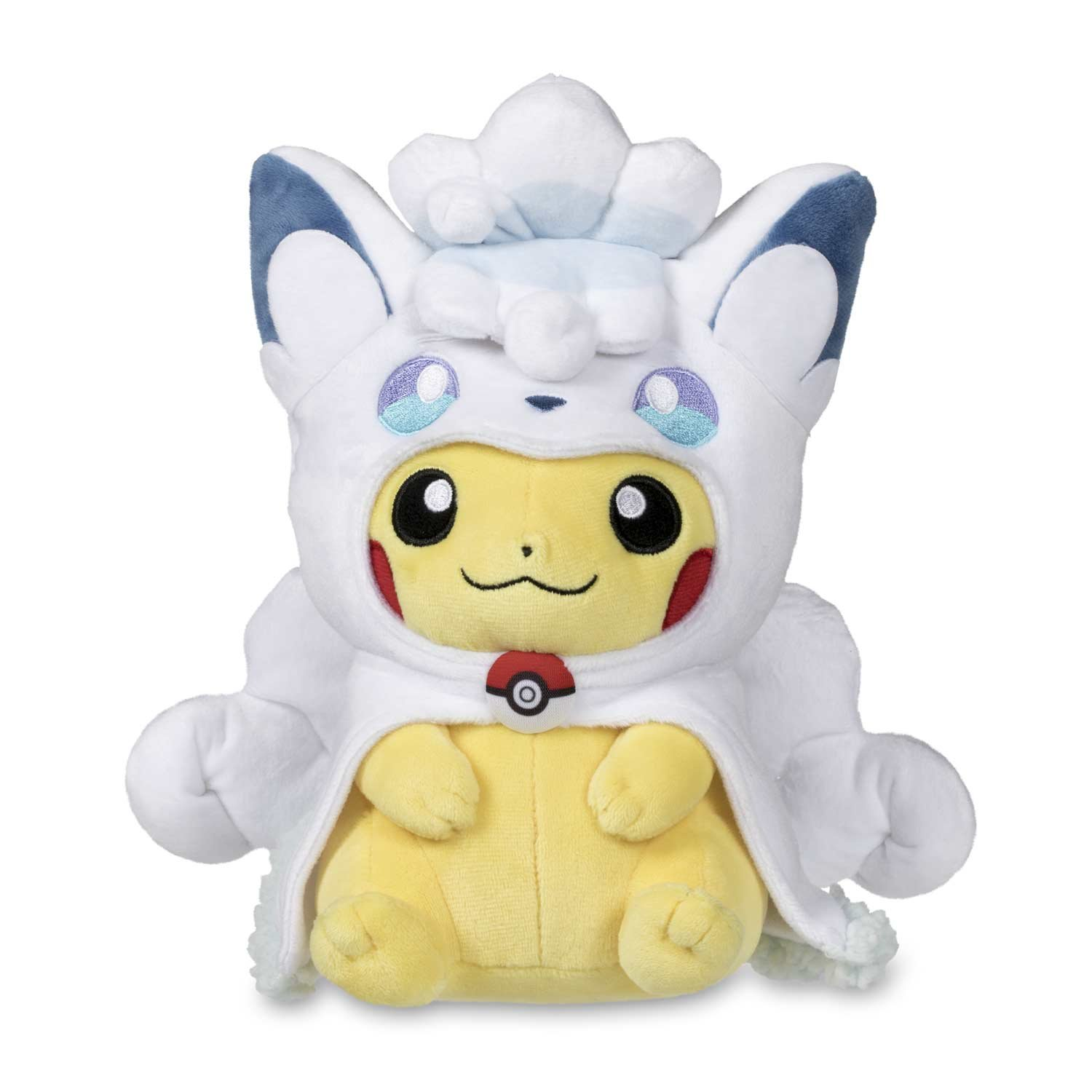 Amazon.com: Pokemon Center Alolan Vulpix Cape Pikachu Poké Plush (Standard) - 8.5