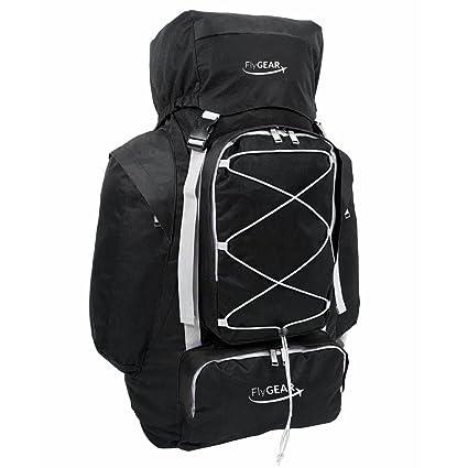 Large Camping Hiking Travel Holiday Rucksack Backpack Luggage Bag (Black)   Amazon.co.uk  Luggage 0ad74b571f30e