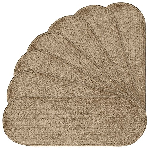 Ottomanson Softy Collection Stair Tread, 9'' X 26'' Oval, Beige, 14 Pack by Ottomanson (Image #5)