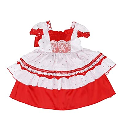 369aebdf5de Chinatera Baby Girls Formal Evening Dress Lace Floral Printed Bowknot Tutu  Party Dress
