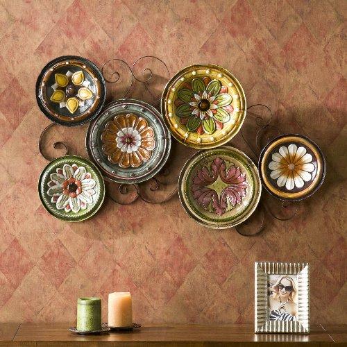 SEI Scattered Italian Plates Wall Art
