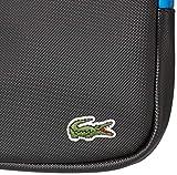 Lacoste Mens PVC Flat Crossover Bag, Noir