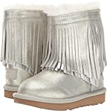 UGG Little Kids Classic Short II Fringe Boot Gold Size 12 Little Kid M