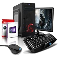 "shinobee Gaming-PC Komplett-PC AMD 6-Kern 6x4.10 GHz, GeForce GTX1050, 22"" LED, Gaming Tastatur+Maus, 8GB DDR3, 2TB, Windows10, Gamer PC, Gaming Computer, Desktop PC #5331"