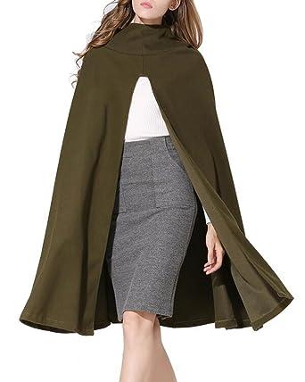 Women's Batwing Poncho Warm Hooded Coat at Amazon Women's Coats Shop