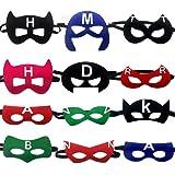 LMYTech 12 Pcs Masques Super Héros Masques pour Enfant/Felt Masks/Enfants Cadeaux d'anniversaire/Fête d'anniversaire Saveurs de Conception Cosplay