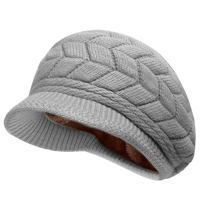 Thenice Cappello di lana con visiera Donna Invernale Hat 0276eea25d49