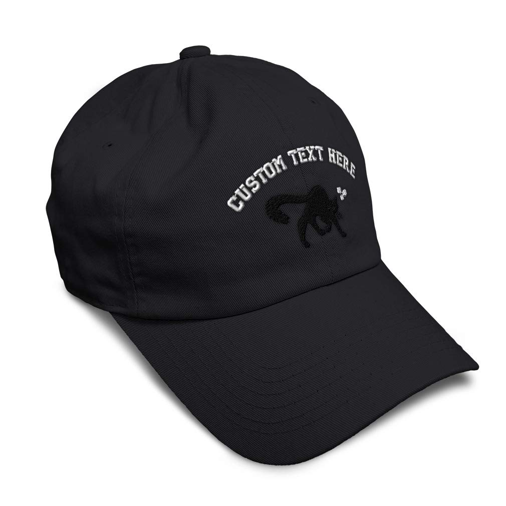 Custom Soft Baseball Cap Black Cat Embroidery Dad Hats for Men /& Women